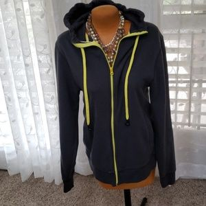 Old Navy size M fleece line grey  hoodie